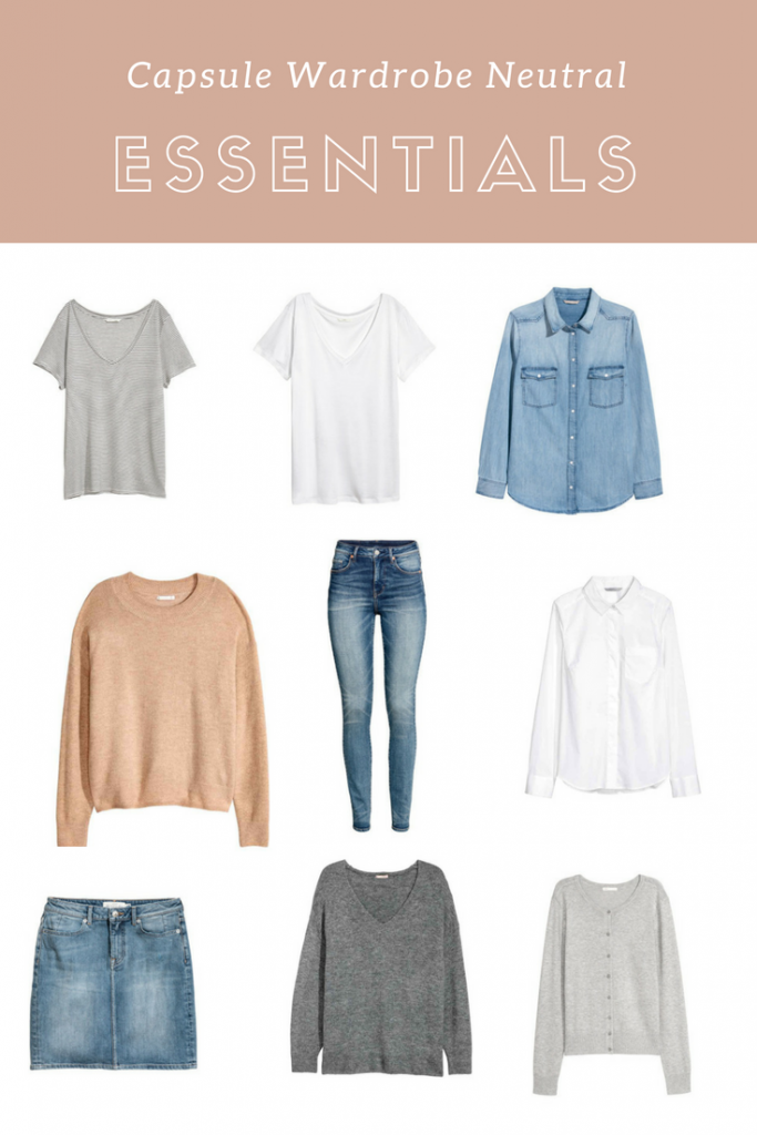 Capsule Wardrobe Neutral Essentials