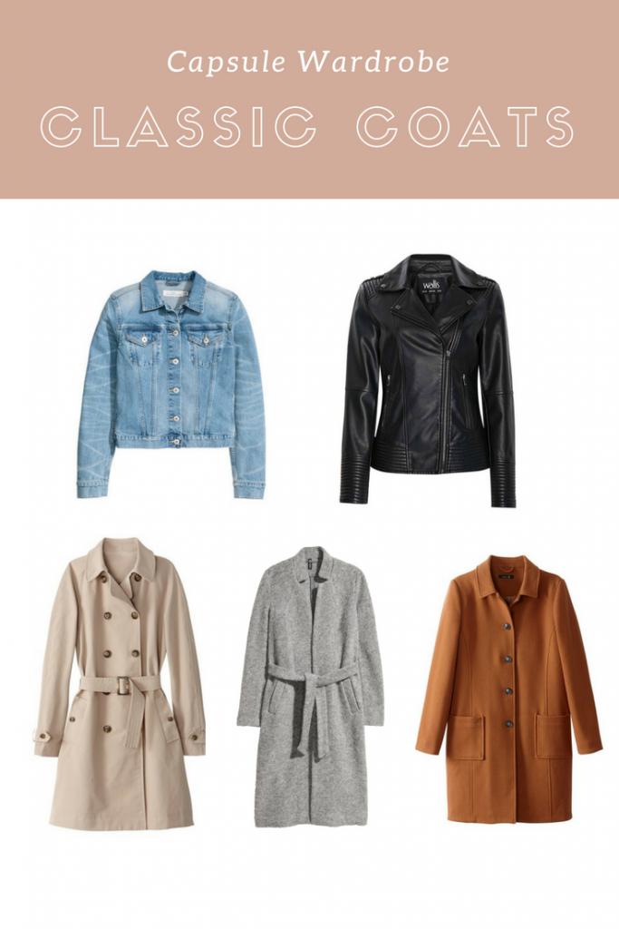 Capsule Wardrobe Classic Coats
