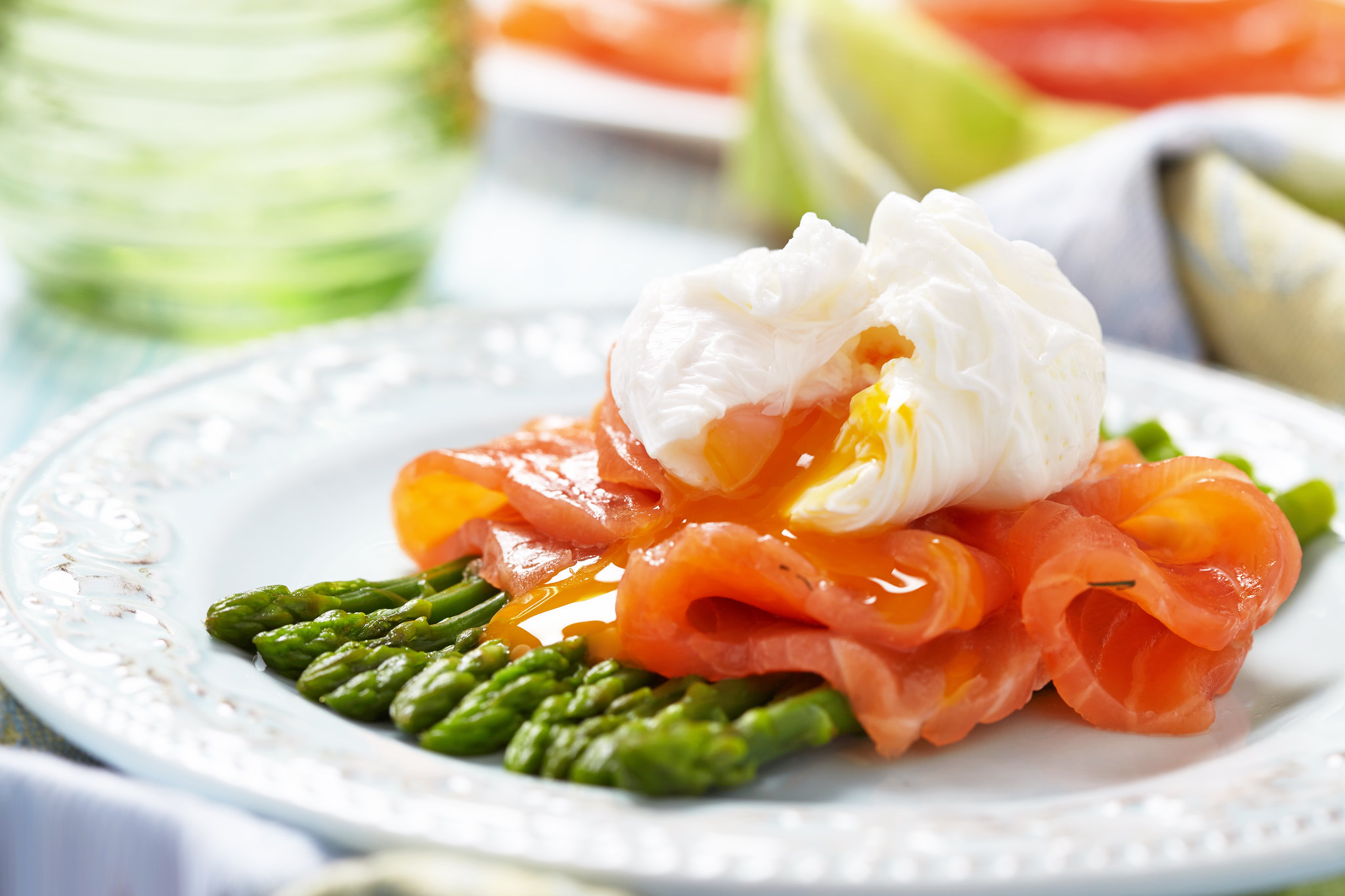 Asparagus, Smoked Salmon &  Poached Eggs