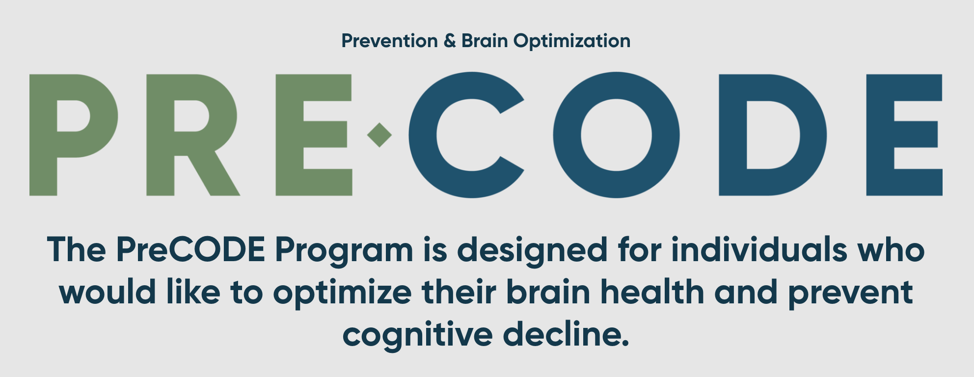 PreCODE – Prevention of Cognitive Decline