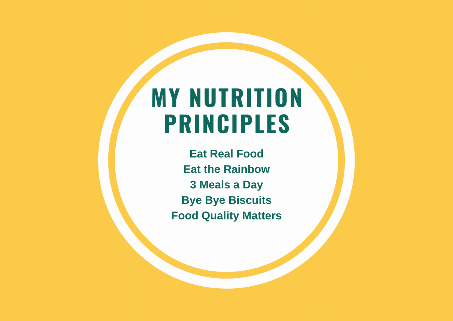 My Nutrition Principles – The Year of Health Day 8 – June 2021