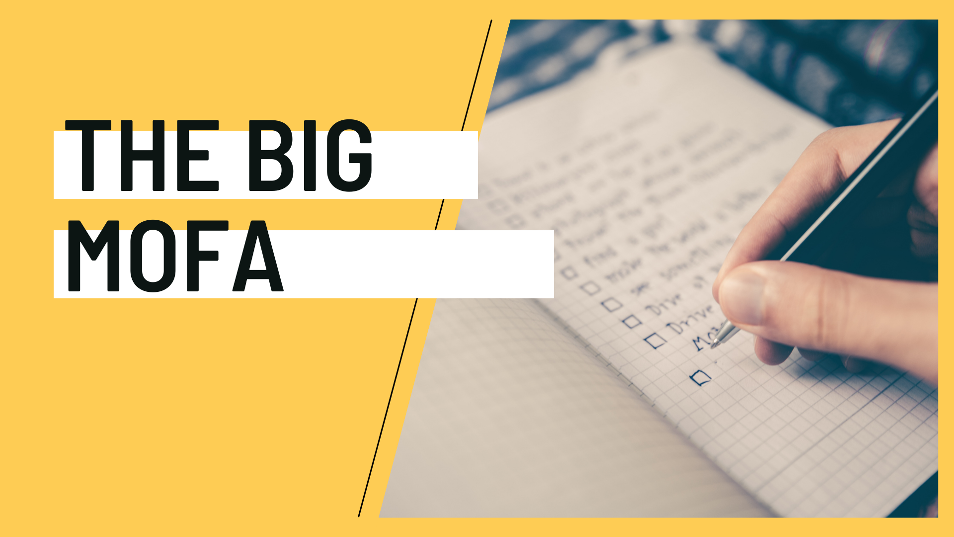 Discovering your Big MOFA! The Year of Health Day 7 – June 7th 2021