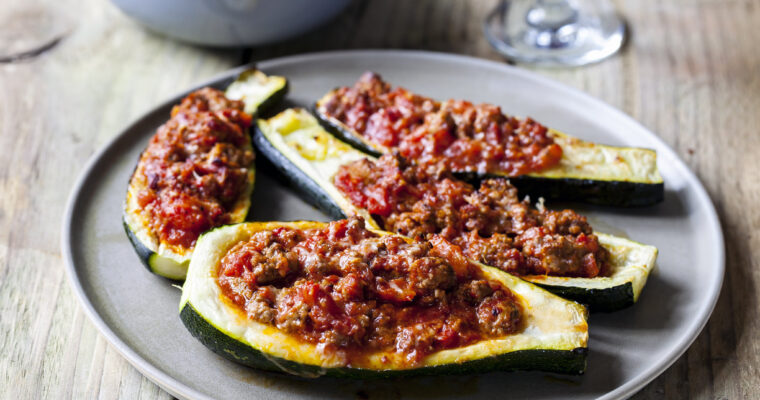 Day 52: July Food – Courgettes with Spicy Lamb Mince (TYOH)