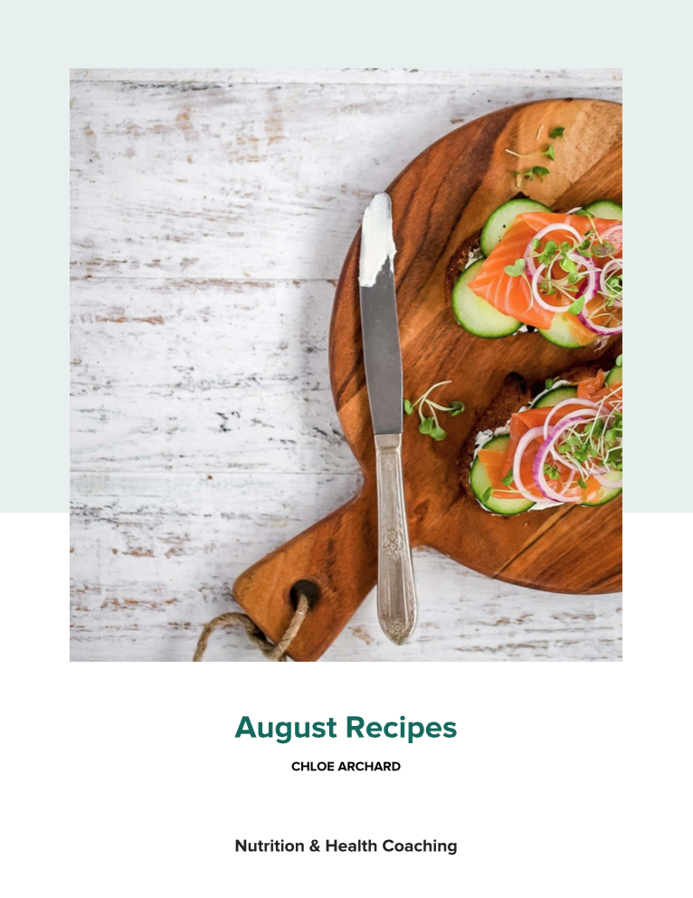 Day 64: FREE August Recipe Book (TYOH, Aug 2021)